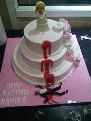 Breakup Cake 3 tier