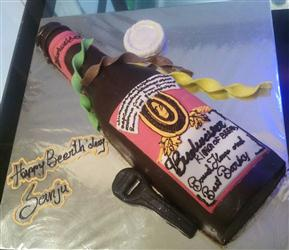 Budwieser Bottle Shape Cake