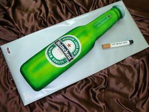 Heineken Beer Bottle Shaped cake