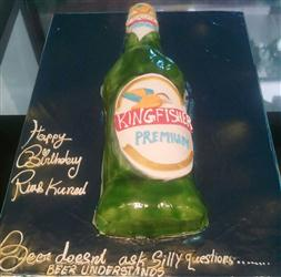 Kingfisher Bottle Shape cake