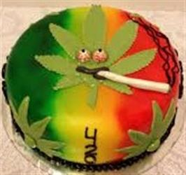 Weed Joint Cake -Eggless