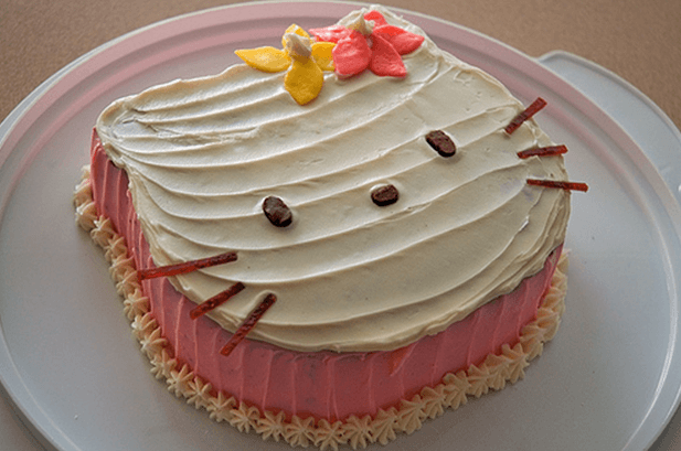 Hellokitty Cake Eggless